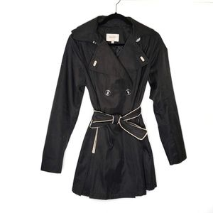 $150 Laundry by Shelli Segal Black Trench Coat